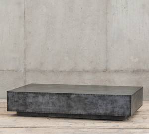 Antiqued Zinc Coffee Table