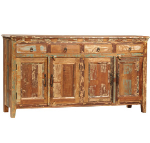 Shabby Chic Vintage 4 Drawer 4 Door Buffet Sideboard