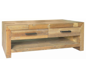 Angora Natural Reclaimed Wood 4 Drawer Coffee Table