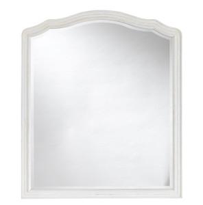 Amity French Oak Wood White Mirror