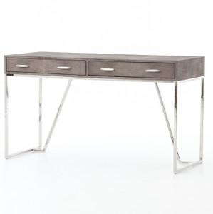Hollywood Modern Shagreen 2 Drawer Writing Desk