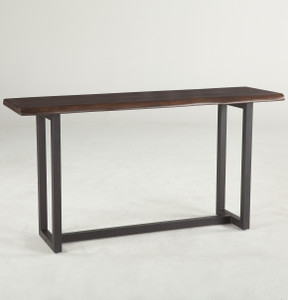 """Live Edge Solid Wood & Iron Console Table 56"""""""