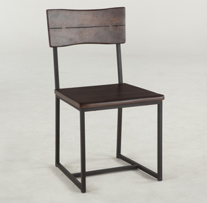 Live Edge Solid Wood & Iron Dining Chair