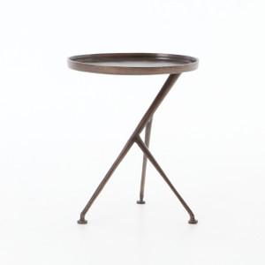 Schmidt Aluminum Tripod Accent Table