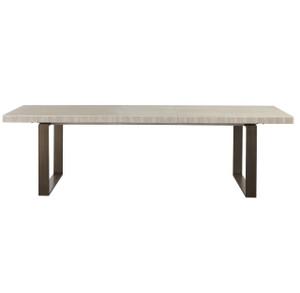 Modern Oak Wood + Bronze Metal Leg Extending Dining Table
