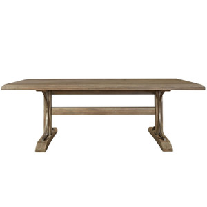 French Country Wooden Trestle Dining Table 89""