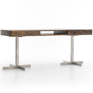 Curtis Mix Reclaimed Wood 2 Drawer Desk