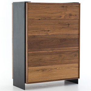 Paul Reclaimed Wood Industrial 5 Drawers Tall Dresser