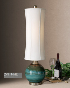 Atherton Blue Ceramic Table Lamp