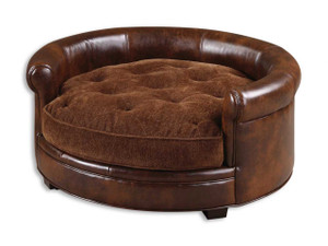 Lucky Leather Pet Bed