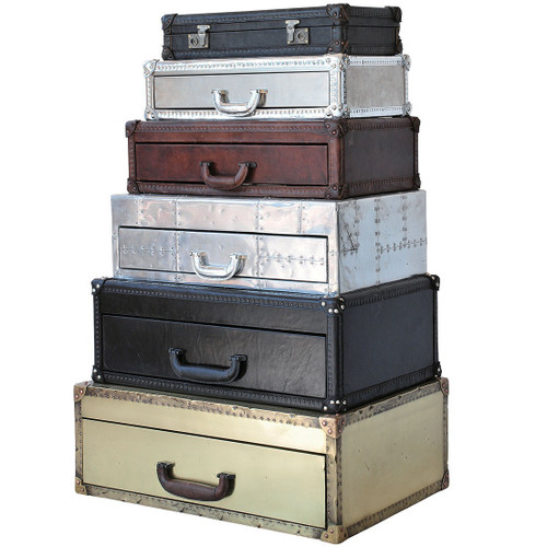 Stacked Suitcase Chest