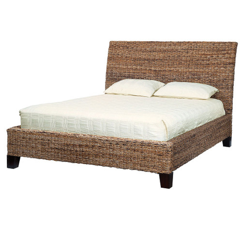 Lanai Banana Leaf Woven King Bed - Wicker Bedroom Furniture Wicker, Rattan & Seagrass Furniture