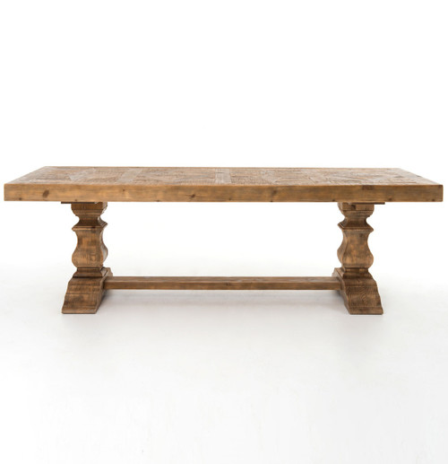 ... English Castle Rustic Trestle Dining Tables ...