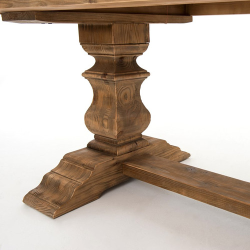 English Castle Reclaimed Wood Dining Trestle Table 98\