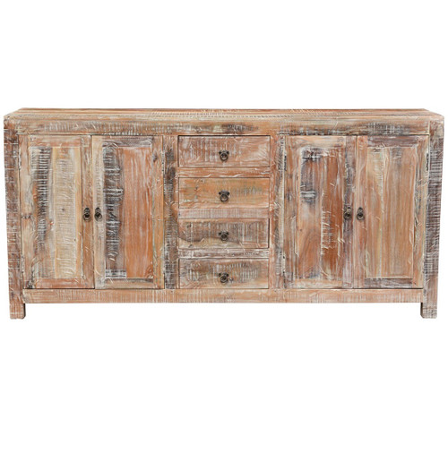 Teak Wood Buffet ~ Hampton rustic teak wood buffet sideboard zin home