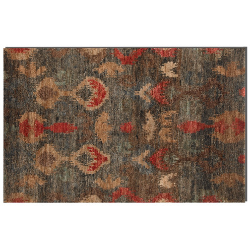 hand knotted ikat blue red area rugs zin home. Black Bedroom Furniture Sets. Home Design Ideas