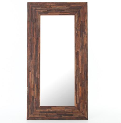 Berlin Mix Reclaimed Wood Floor Mirror