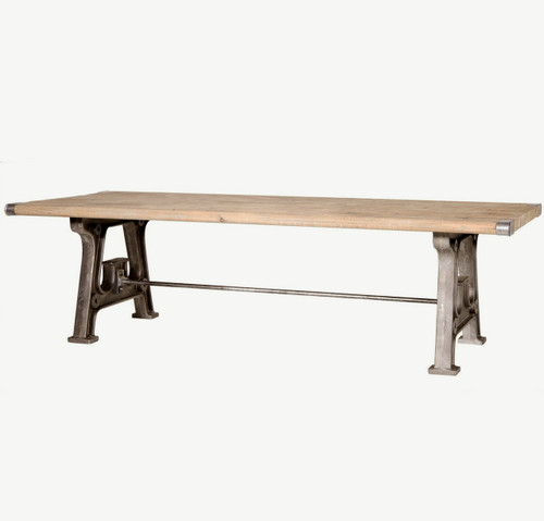 Barnwood industrial dining room table 106 zin home - Barnwood dining room table ...