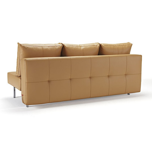 sly deluxe q full size convertible leather sofa bed zin home. Black Bedroom Furniture Sets. Home Design Ideas