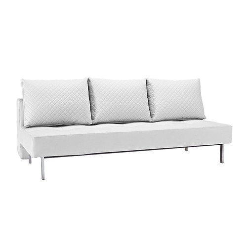 Sly Deluxe Q Full Size Convertible Leather Sofa Bed Zin Home