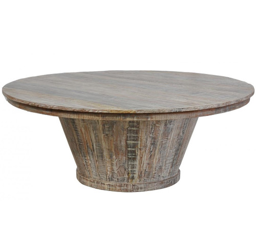 """Large Round Dining Table: Hampton Reclaimed Wood Large Round Dining Table 80"""""""
