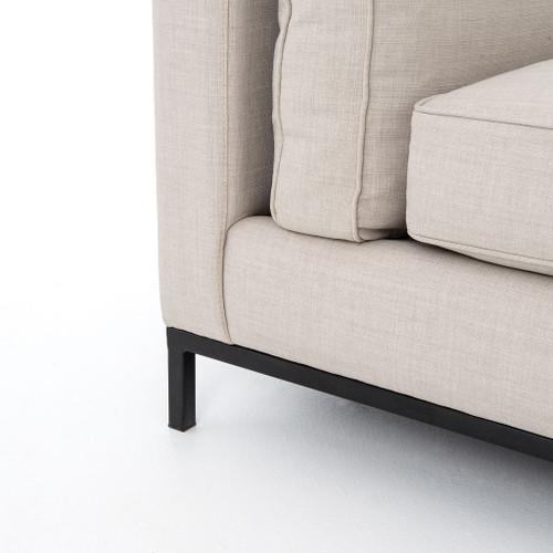 Madrid Taupe Beige Ultra Modern Living Room Furniture 3: Grammercy Modern Beige Linen Upholstered Sofa