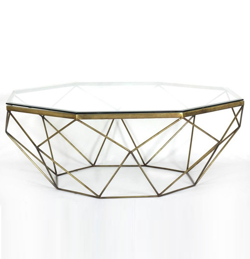 ... Glass Top Coffee Table · Marlow Geometric Coffee Table Antique Brass ...