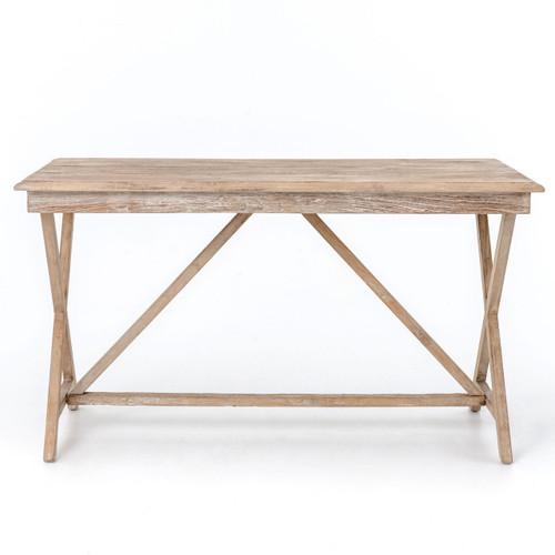 Palma Rustic Whitewash Reclaimed Wood Desk Zin Home