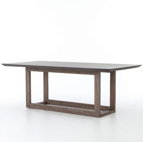Masonry Wood and Black Concrete Top Dining Table 79 Zin Home