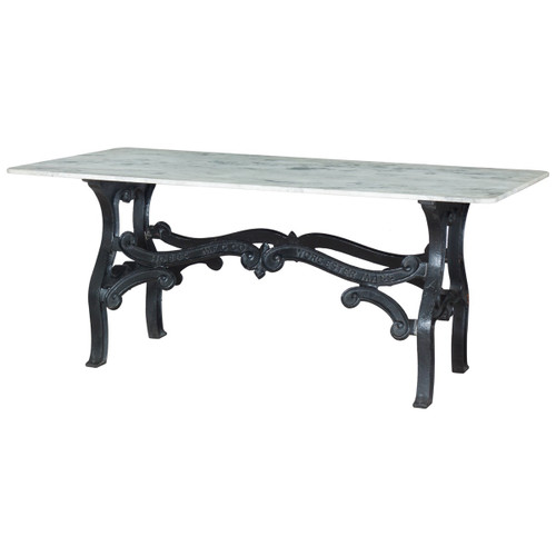 French Industrial White Marble Top Round Dining Table 48  : DutchIndustrialWhiteMarbleTopDiningTable704211432853072 from www.zinhome.com size 500 x 500 jpeg 18kB