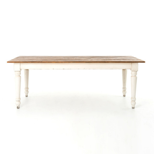 "Barnwood Dining Room Tables: Cottage 72"" Reclaimed Wood White Dining Room Table"