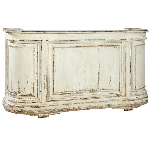 Cottage Antique White Mahogany Bar Counter furniture