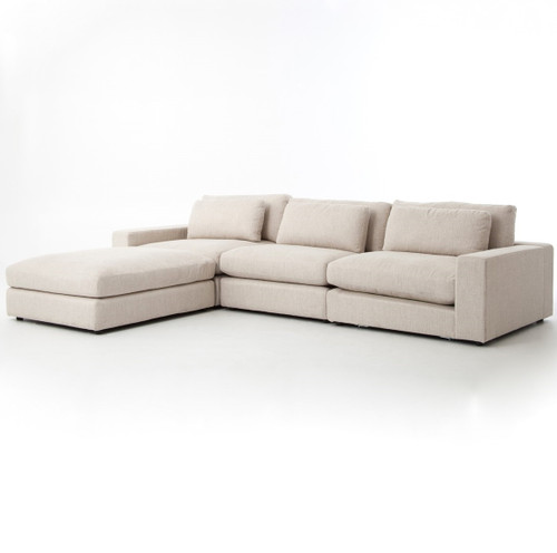 Bloor Beige Contemporary 4 Piece Sectional Sofa  sc 1 st  Zin Home : 4 piece sectional - Sectionals, Sofas & Couches