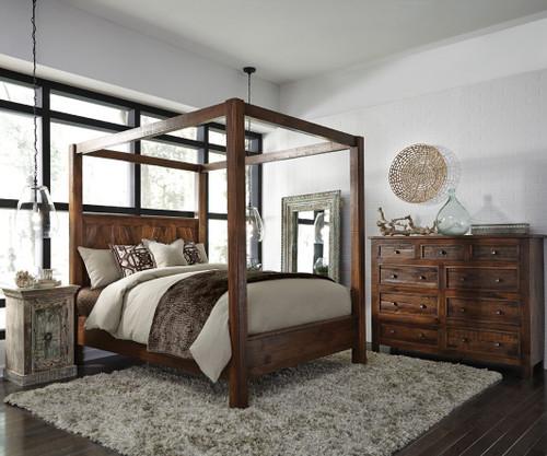 Kosas California King Wood Canopy Bed Zin Home