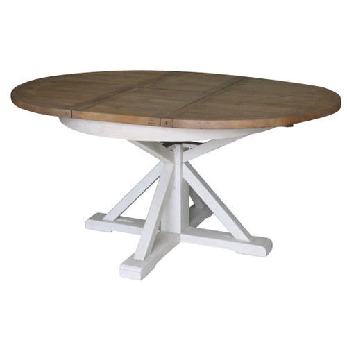 Cintra White Expandable Round Dining Table 63 Quot Zin Home