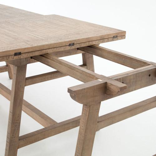 ... Spanish Reclaimed Wood Extending Bar Pub Table ...