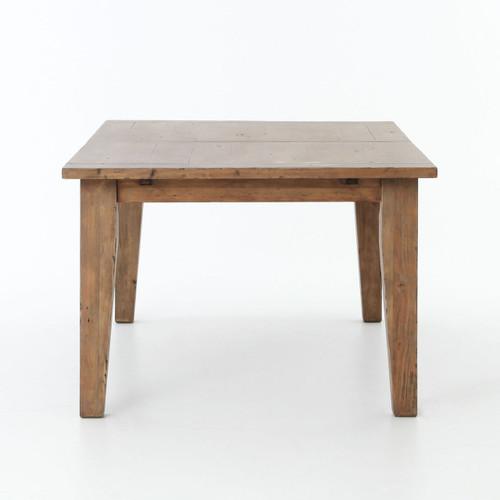 Coastal beach reclaimed wood extending dining table 96 for Beach dining table