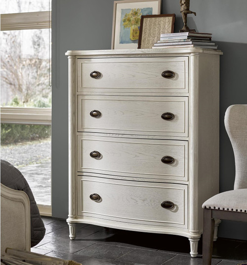 Amity french oak wood drawer chest white zin home