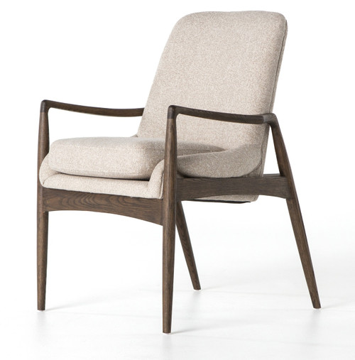 Braden mid century modern upholstered dining arm chair