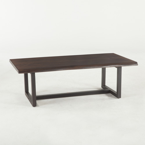 Flynn wood and iron coffee table for 52 table view