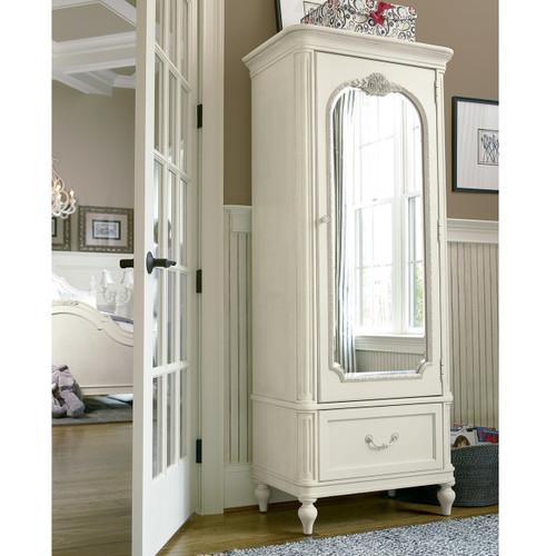 rosalie kids bedroom armoire - white | zin home