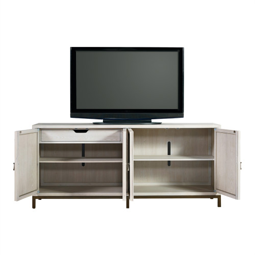 ... Belgian Cottage Mirrored TV Media Cabinet   Antiqued White ...