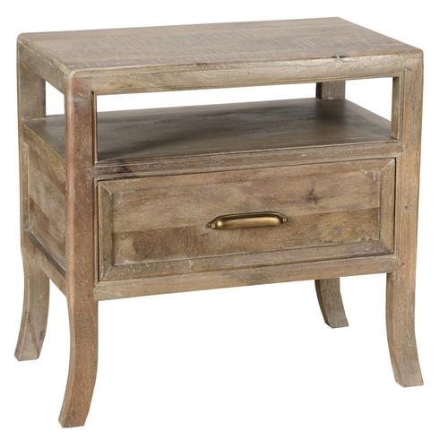 Nice Amelie Solid Wood 1 Drawer Nightstand