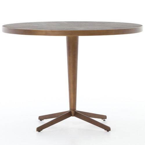 Hollywood Modern Shagreen Round Bistro Table   Brass, VBEN 006
