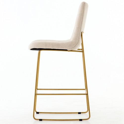 Camile Gold Iron Leg Counter Stool Savile Flax Zin Home