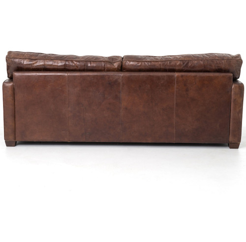 pics of distressed leather sofa | Larkin 3 Seater Vintage Cigar Contemporary Leather Sofa ...
