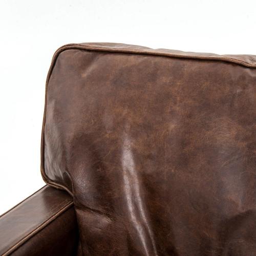 ... Larkin 3 Seater Brown Leather Sofa ...
