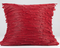 Bamboo Leather Pillows- RED