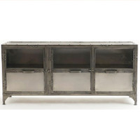 Element Industrial Media Console-Nickel