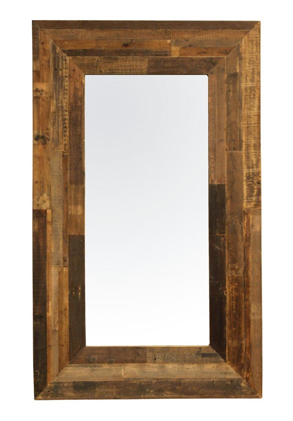 Industrial reclaim 100 handmade modern industrial furniture - Angora Reclaimed Wood Tall Floor Mirror Zin Home